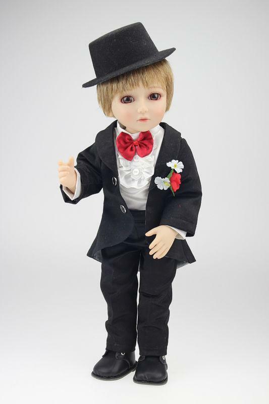 18'' BJD Groom Reborn Newborn Baby Doll Lifelike Vinyl Christmas Present Dolls Toys for Girls Toys for Children
