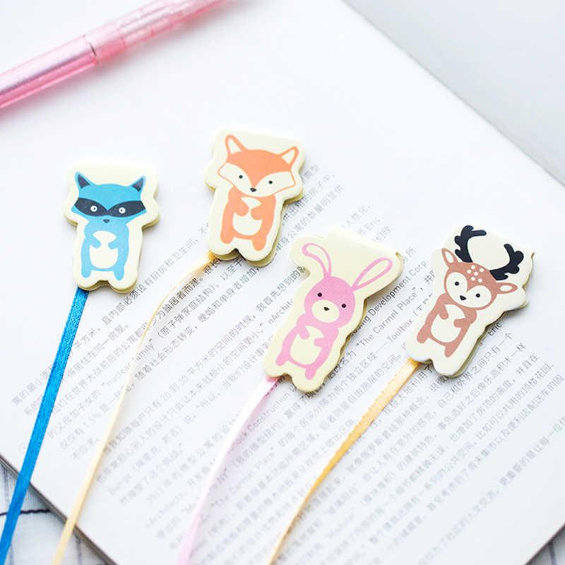 Kreatywny Kawaii magnetyczne zakładki Cute Cartoon królik kot książka markery dla przybory szkolne dla dzieci