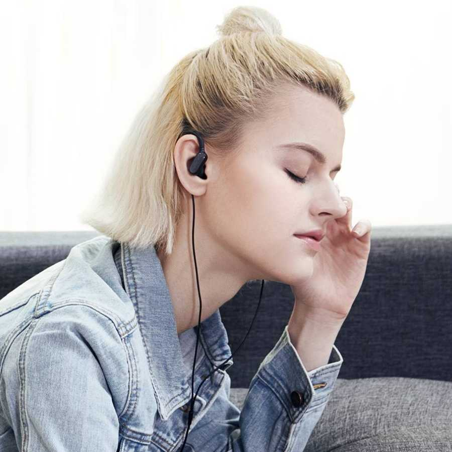 New Xiaomi Wireless Bluetooth Ear-Hook Hidden Clamp Anti-Drop IP4X Waterproof Music Sport Mini Earphone Earbuds Headphone