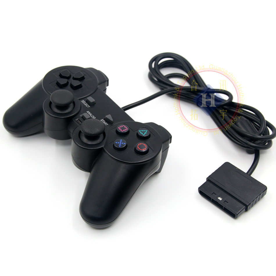 HOTHINK Nero Wired Controller 1.8 M Doppio Shock Remote joystick Gamepad Joypad per PlayStation 2 PS2