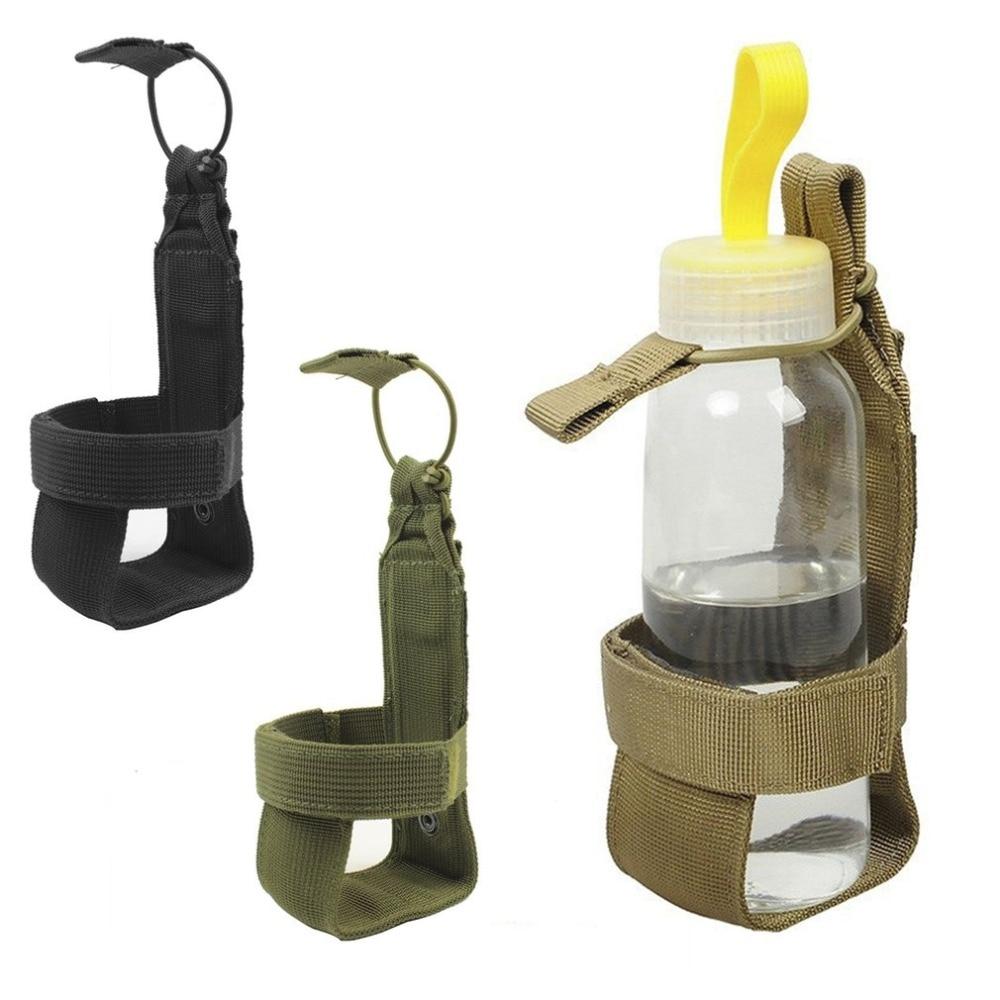 Tactical Water Bottle Holder With Nylon Adjustable Magic Tape Drink Holder Belt Bottle Carrier Hiking Pouch