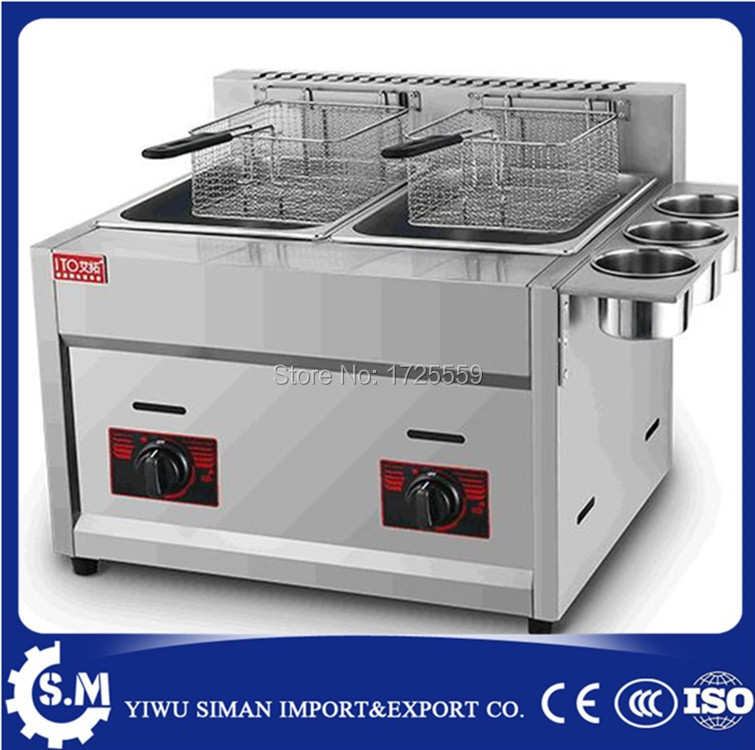 12L homeuse gas deep fryer stainless steel material LPG gas deep fryer for sale