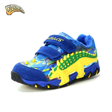 Dinoskulls Winter Kids Shoes Fur Lining Children Casual Shoes Kids Sneakers Running Sports Shoes Dinosaur Sneakers 27-34