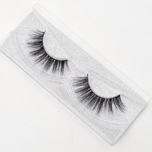 Image 4 - Visofree yanlış göz lashes el yapımı doğal sahte kirpikler makyaj glitter ambalaj 1 çift kutu makyaj seksi 3D vizon lashes D01