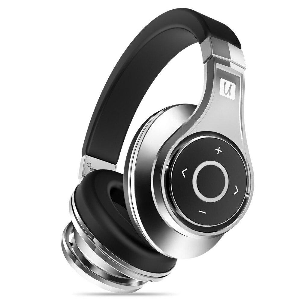 Bluedio U (UFO) bluetooth fone de ouvido High-End Genuine Patenteado 8 Motoristas 3D Som liga de Alumínio Over-Ear fone de ouvido sem fio