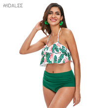 NIDALEE Sexy Women Swimwear High Waist Bikini Plus Size 3XL Swimsuit Beach Bathing Suit Push Up Bikini Set Maillot De Bain Femme nidalee sexy women swimwear high waist bikini plus size 3xl swimsuit beach bathing suit push up bikini set maillot de bain femme