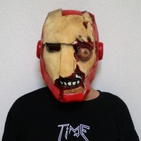 Iron Man Cosplay Horror Punk Mask Halloween Stage Latex Mask Costume Party Cool Play Prop Drop Ship