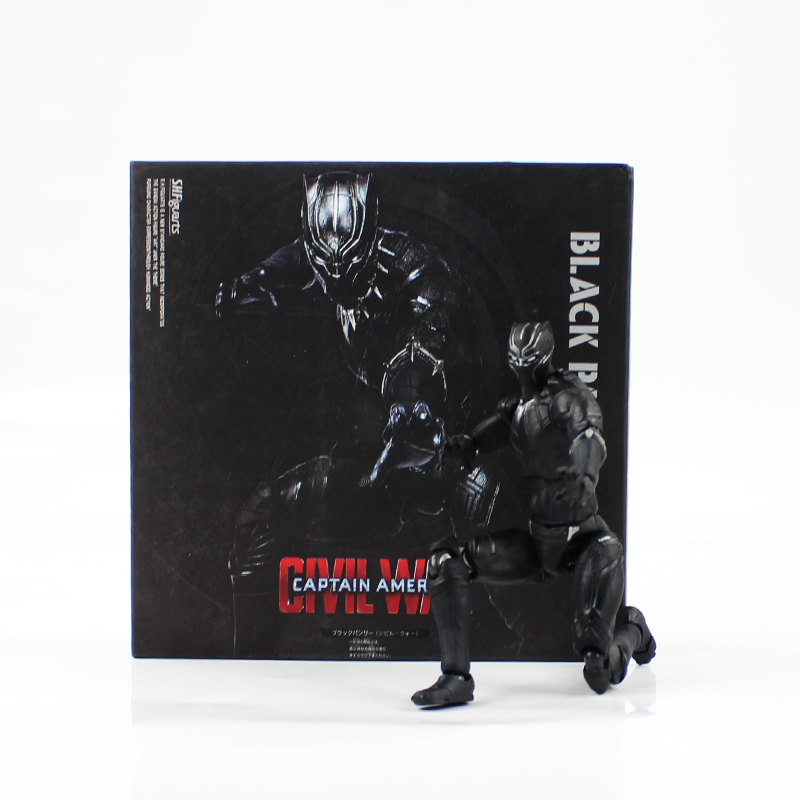 16cm Black Panther Action Figure Super Hero Captain America Civil War Panther Figuarts Joint Movable Model Toys Boys Cool Gifts