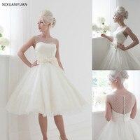 Women Wedding Formal Dress Bride Lace Short Wedding Dresses 2019 Party Ball Gown Vestido De Noiva Curto