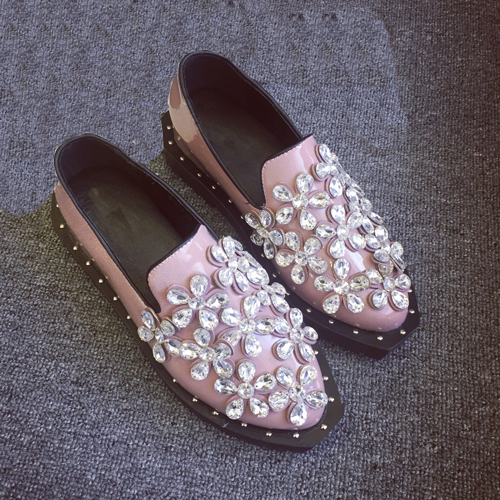 ФОТО Superstar love most woman shoes  black and pink shoes casual shoes very comfortable for all day wear  crystal decoration