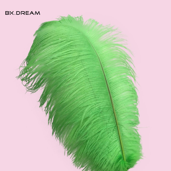 Wholesale 50pcs14-16 inch / 35-40 cm natural green ostrich feather wedding and party, performance decorations