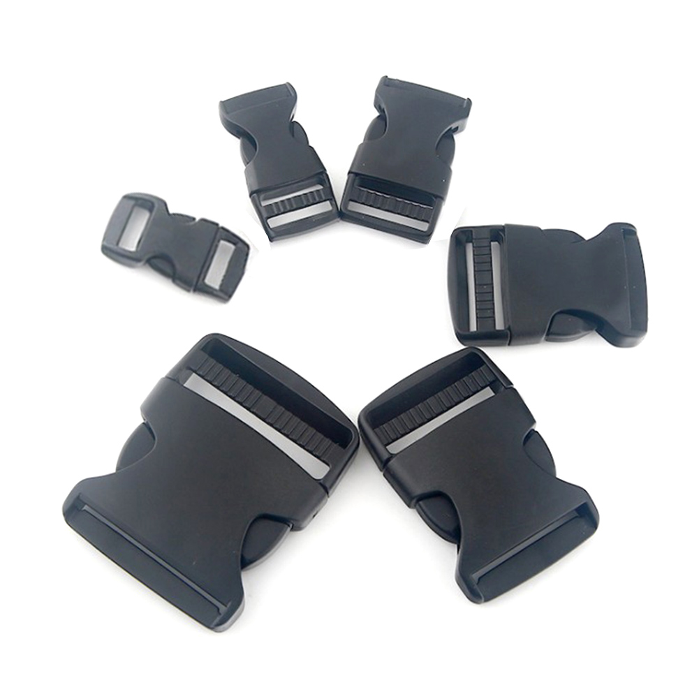 10-50mm Black Plastic Webbing Bag Strap Clasps For Bag 2019 Adjustable Side Release Clips Buckles Bag Accessories Fermoir Sac(China)