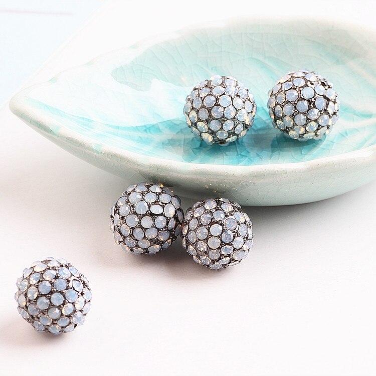 DIY handmade jewelry accessories double diamond alloy diamond drill round Korean fashion temperament Decor protein