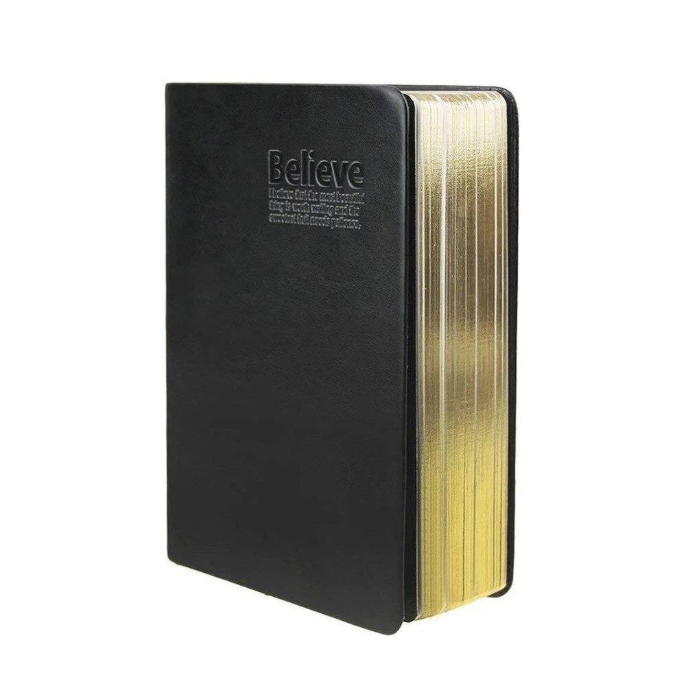Vintage papier épais cahier bloc-notes Bible journal livre couverture en cuir blanc papier journaux Agenda planificateur école bureau