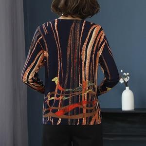 Image 2 - YISU Women Sweater 2019 fashion Spring Autumn Warm Pullovers Sweater stripe Printed Sweaters Female Knitted sweaters Female