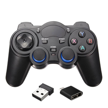 10pcs a lot 2 4GHz Wireless Game Controller Gamepad Joystick For Android TV Box With USB