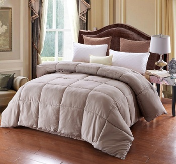 Brief Solid Winter Duvet Thick Comforter Inner Single Double Bedding Quilt White Black Pink Grey #229