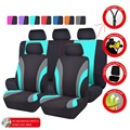Car-pass Colorful Sports Series Car Seat Cover Universal Car Styling Full Set Interior Car-Covers Airbag Compatible Seat Support