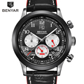 BENYAR Fashion Men Watches Top Brand Luxury Men's Quartz Chronograph Sport Watch With Small Dials Male Wrist Watch Clock
