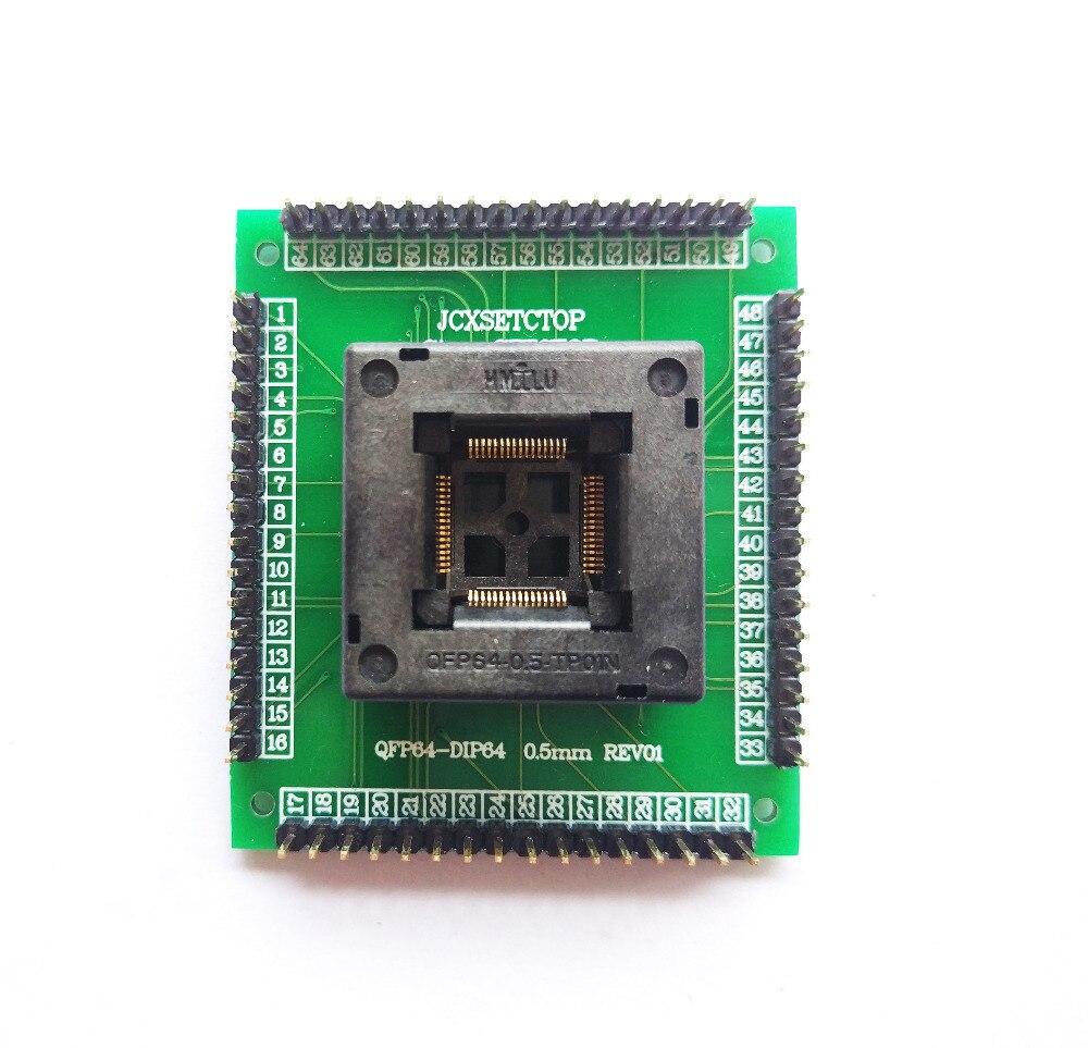 Image 4 - QFP64 TQFP64 LQFP64 гнездо адаптера IC тестовая розетка программист qfp64 гнездо tqfp6 программист adpters-in Интегральные схемы from Электронные компоненты и принадлежности on AliExpress