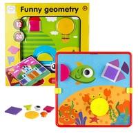 Candice guo plastic toy creative button idea DIY geometry nail shape match board kindergarten baby birthday gift christmas gift