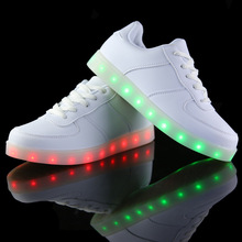Led shoes for adults women casual shoes USB led luminous shoes woman 2016