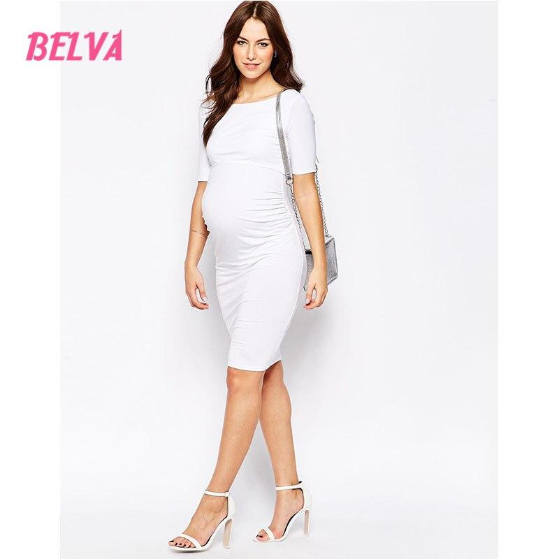 0d717bcba5725 Belva 2017 Flexible White Dress photography props Bamboo Fiber maternity  dress pregnancy dresses pregnant 657401