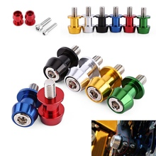 MAYITR 2pcs 8/10mm Motorcycle CNC Swingarm Swing Spools Slider Arm Bobbins for KTM BMW S1000RR 09-14 KAWASAKI ZX10R 2011-2014
