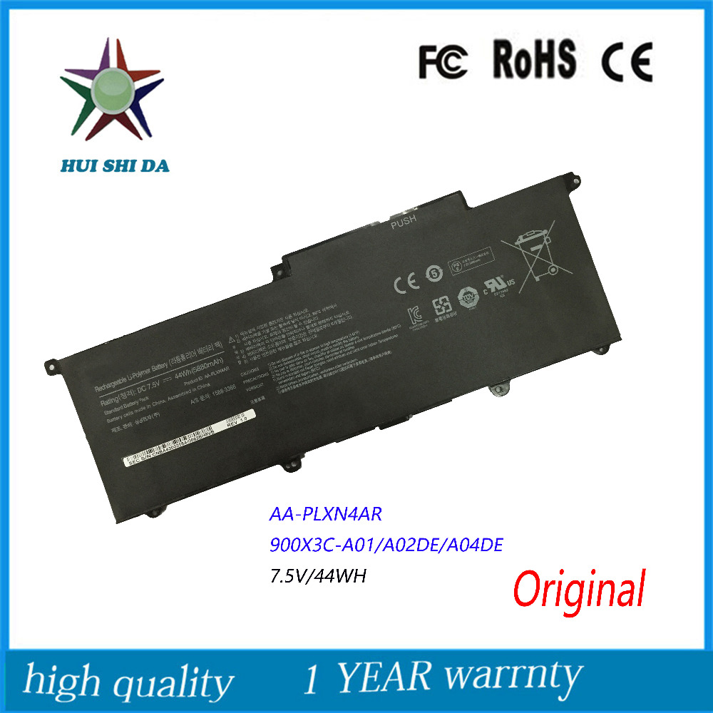 7.5V 44Wh New Original Laptop Battery for Samsung NP900X3E 900X3F 900X3G AA-PLXN4AR AA-PBXN4AR 900X3C-A01 900X3C-A0 new laptop battery for samsung 900x4d np900x4c np900x4b np900x4c a01 aa pbxn8ar