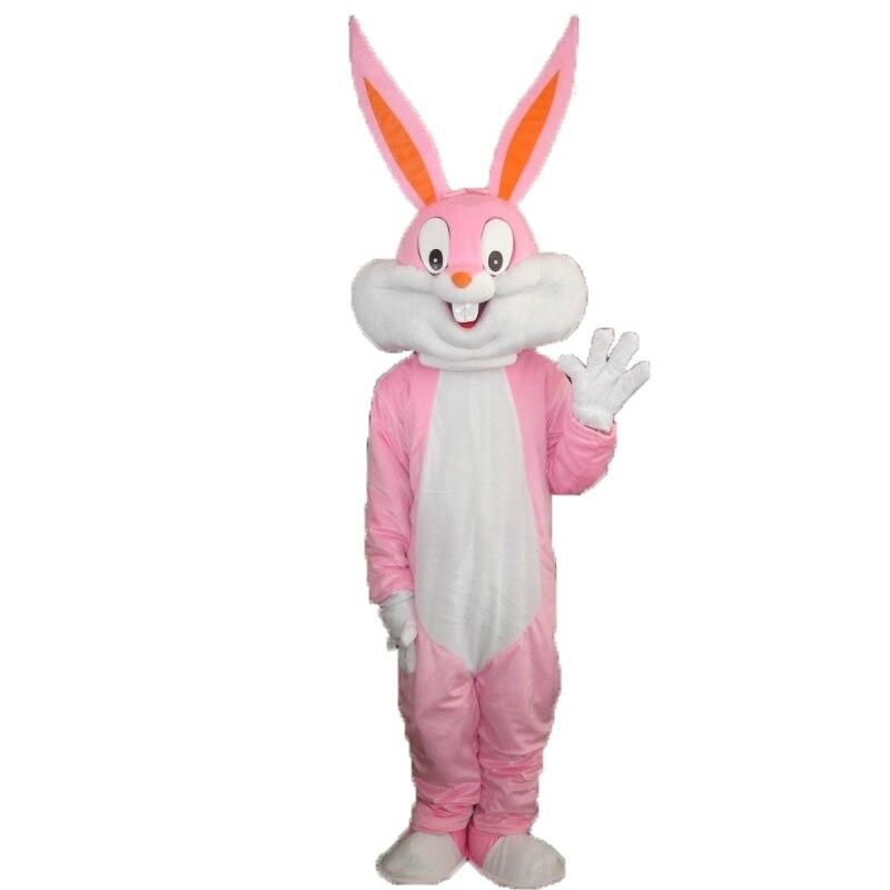 Высокое качество Продажа Bugs Bunny талисмана Косплэй Пасхальный заяц Кролик костюм