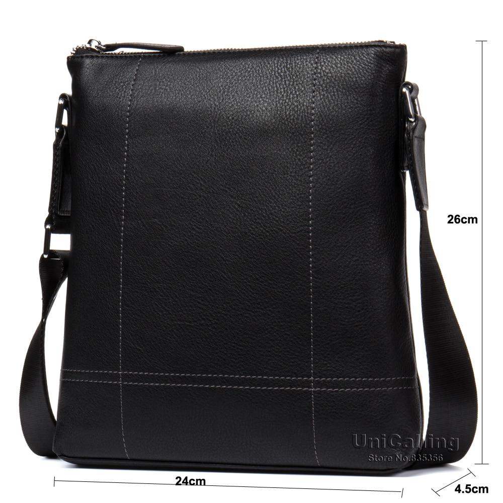 Кожаные сумки для мужчин Модная брендовая натуральная кожа Креста тела сумки мужская повседневная кожаная сумка для iPad/гаджеты - 3
