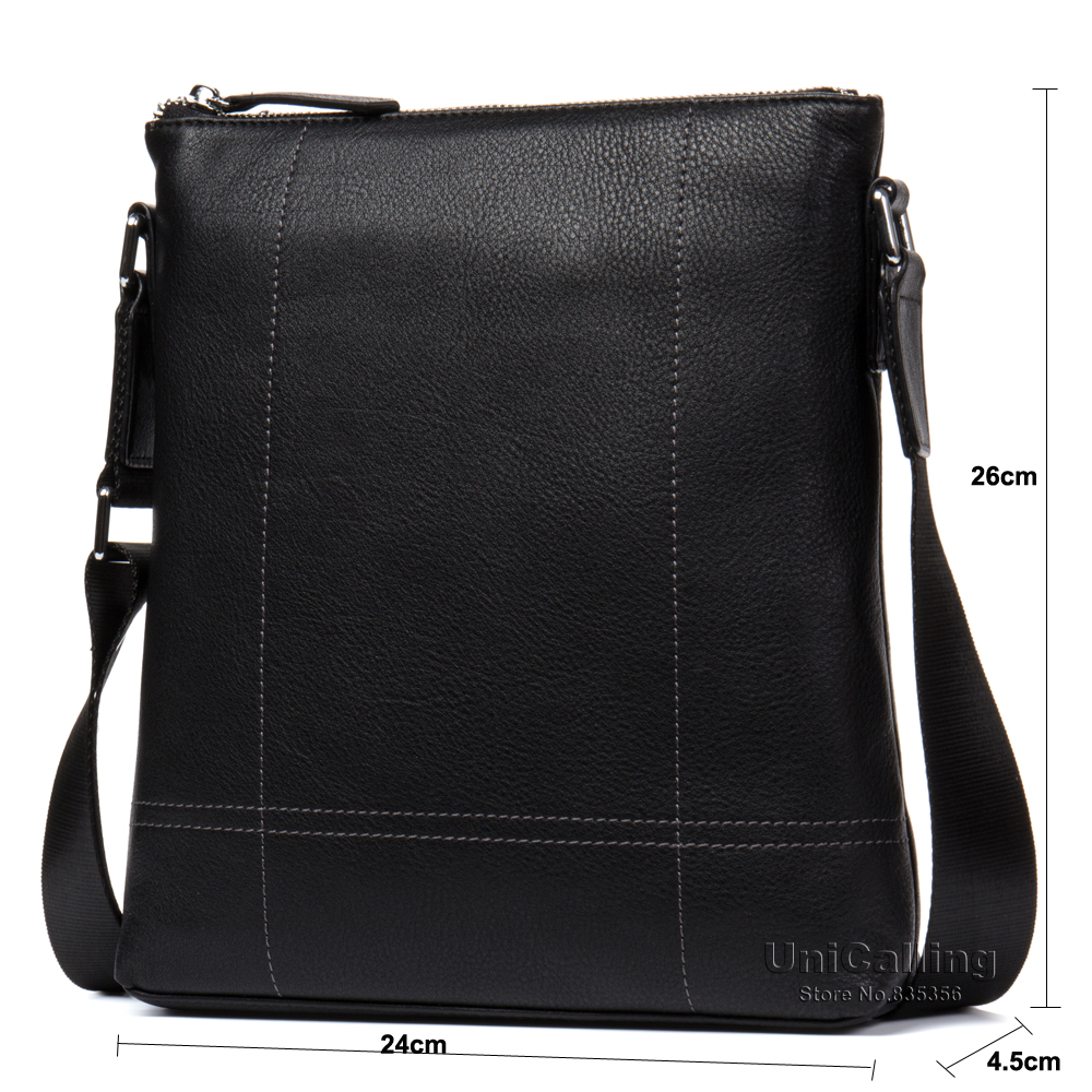 Leather shoulder bags for men fashion brand genuine leather cross body bags men casual leather messenger bag for iPad/gadgets - 3