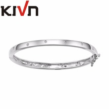 KIVN Fashion Jewelry CZ Cubic Zirconia Womens Girls Bridal Wedding Bangle Mothers Day Promotion Birthday Christmas Gifts