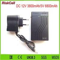 100pcs Lot Super 12V Li Ion Rechargeable Battery Pack 3800mAh 5V 6800mAh For LED Strips With