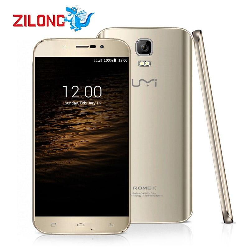 Original Umi Rome X Android 5 1 smartphone 3g MTK6580 5 5 inch 64bit Quad Core