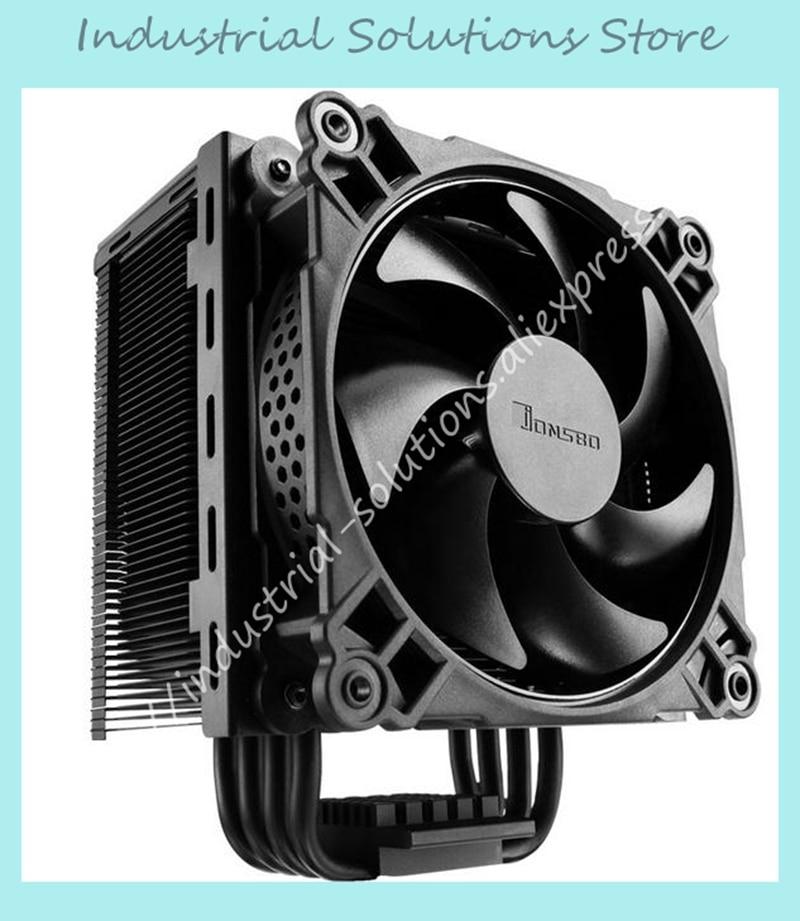 Jonsbo CR-201 4 CPU 12CM heat pipe radiator side LED fan jonsbo cr 101 desktop pc heat pipe cpu radiator light led fan