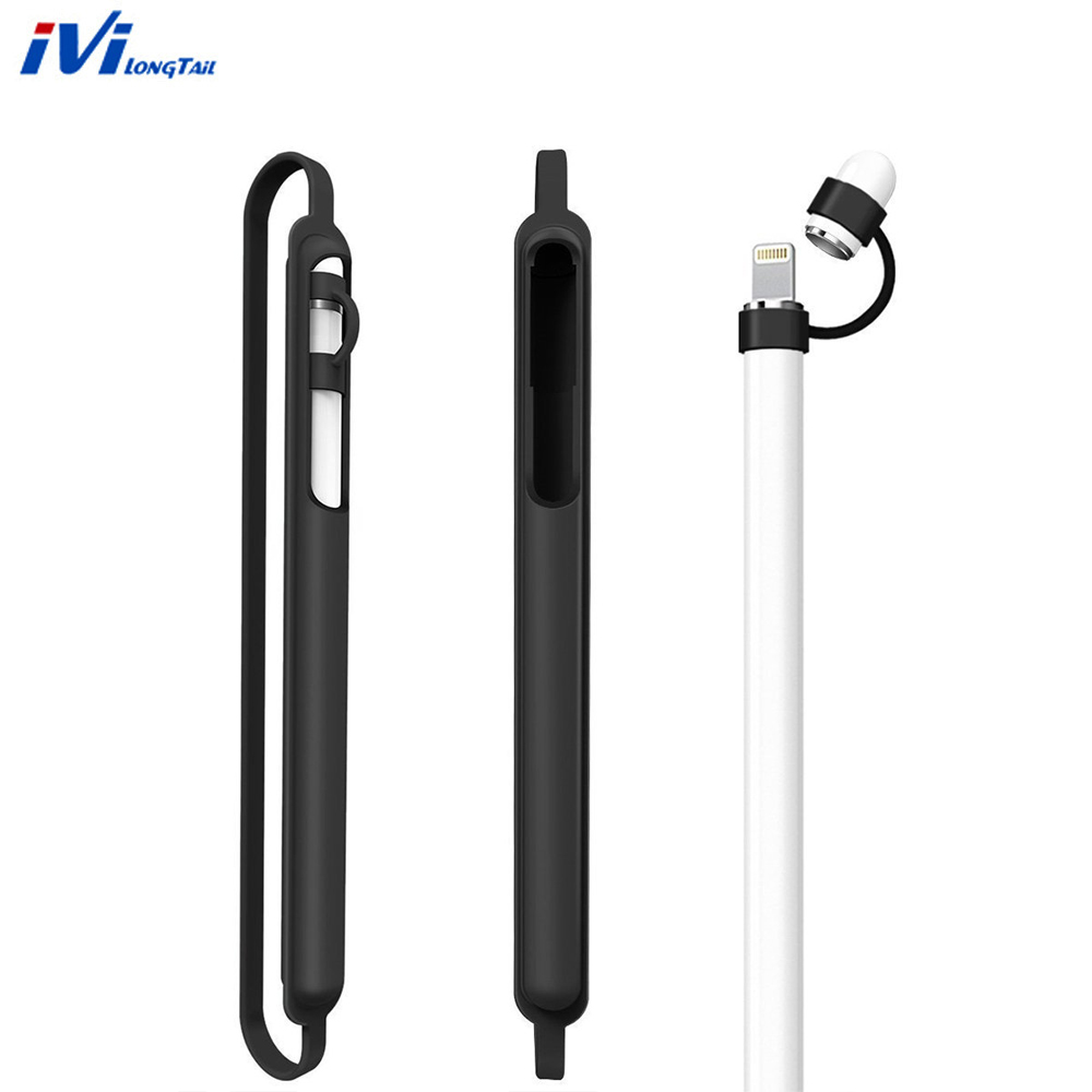 Lightweight Silicone Pen Full Case for Apple Stylus Pencil, Washable Sleeve for iPad Pro 12.9 10.5 9.7 inch Cap Tip Cover Holder silicone charging stand anti lost cap cover for ipad pro pencil touch stylus pen l059 new hot