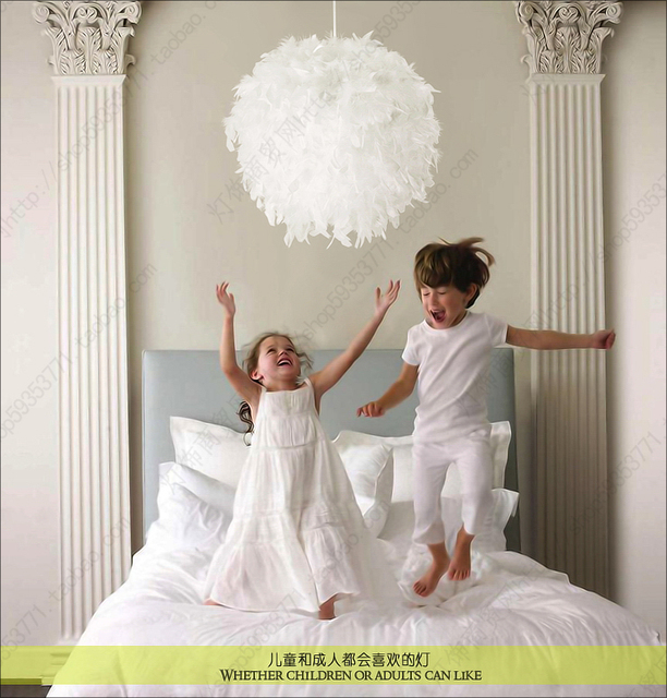 Plume Pendentif Lampe 60 Cm Eclairage Lampes Badminton Pendentif
