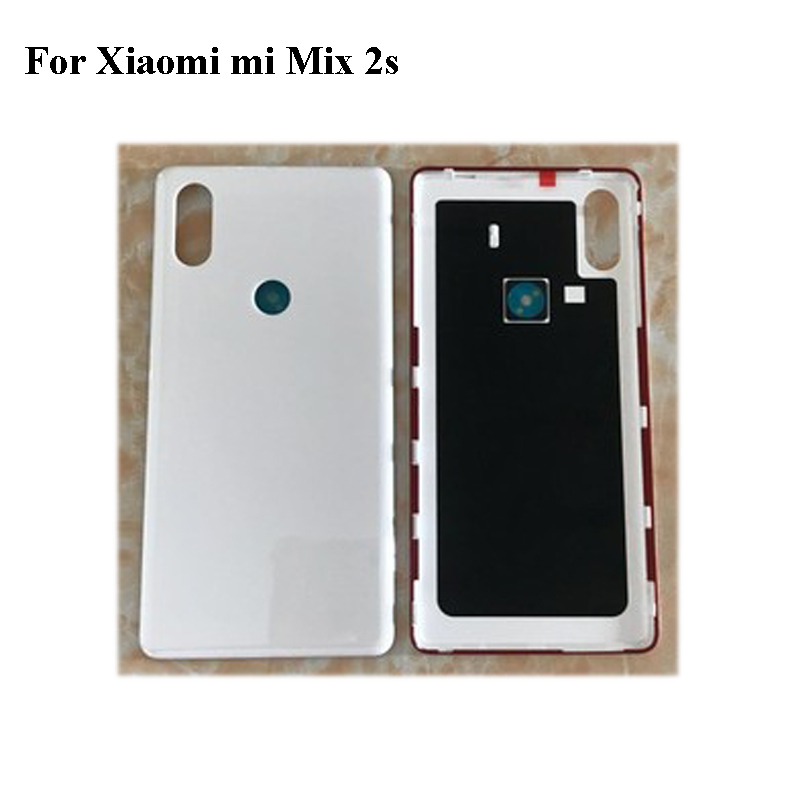 White Ceramics Back Glass Rear Cover For Xiaomi Mi MIX 2s Mix2s Battery Door Housing case back cover For Xiaomi Mi MIX2 s mix 2s