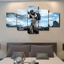 Framed 5 Pcs Modular Home Decor Wall Art Star Wars Painting Canvas Wall Art Picture Home Decoration Living Room Canvas Painting