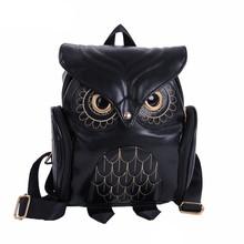 Cute Owl Fashion Backpacks Cartoon Women Backpack Softback School Bags Teenage Backpacks for Girls#Z cheap xiniu NONE Solid zipper Polyester Below 20 Litre Air Cushion Belt Solid Bag Soft Handle Interior Zipper Pocket Embossing