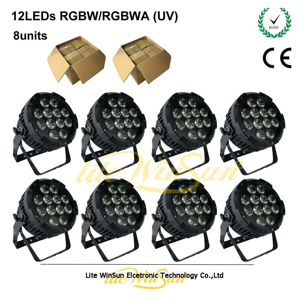 Litewinsune 8 шт. 18Watt * 12 светодиодов RGBWA УФ LED Slim пар заливающего света диско DJ Light Театр 6in1 стирка свет открытый
