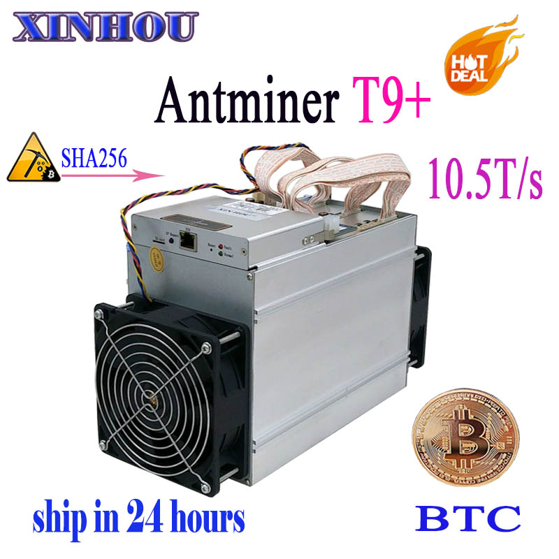 Asic Bitcoin Miner AntMiner T9+ 10.5T SHA256 Without PSU .BTC BCH mining More economical than the S9 S9i Z9mini DR3 M3 M10 kuangcheng mining old bitmain antminer s9 14th with psu bitcoin miner asic btc miner work in the bcc btc pcc sha256