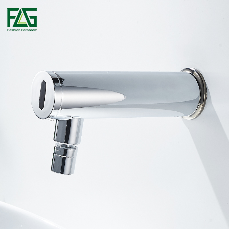 Bathroom Faucet Wall Mounted Single Cold Sensor Faucet Automatic Faucet Bathroom Vanity No Need Hands Faucet torneira do banheir new deck mounted cold automatic sensor hands faucet chromed free bathroom sink tap cold only sensor faucet chrome for bathroom