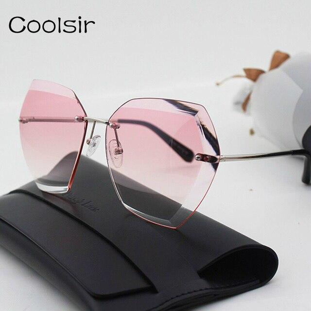 d2870a5dad 2017 new marque designer diamant de coupe lunettes de soleil femmes mode de  luxe marine style
