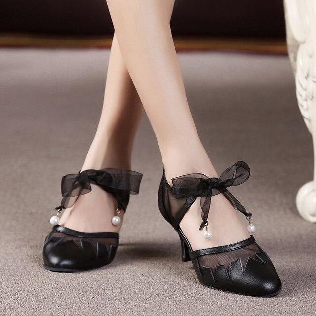 Tacco Ballo Scarpe Moderne Medio Chiusa Sandali Punta Da Delle qvXROHRw4U