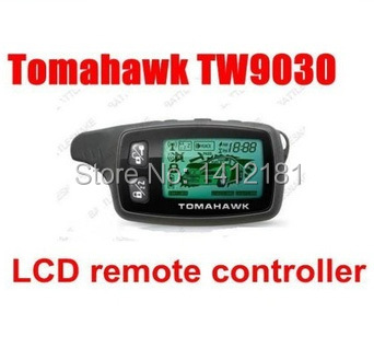 TW 9030 LCD Remote Controller Keychain For 2 Way Car Alarm Sytem Tomahawk TW9030 /Tomahawk TW-9030 Key Fob Chain