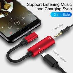 Cafele OTG type C до 3,5 мм AUX и USB C Женский аудио адаптер 2в1 для Xiaomi 8 samsung S9 адаптер для наушников
