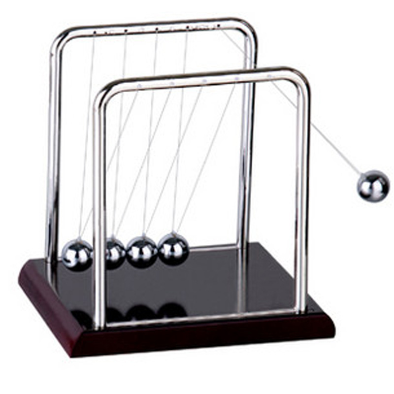 2016 Early Fun Development Educational Desk Toy Gift Newtons Cradle Steel Balance Ball Physics Science Pendulum P0.5