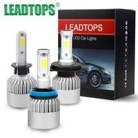 LEADTOPS H1 H4 LED H7 H11 9003 HB2 H3 H8 H9 COB S2 Auto Car Headlight